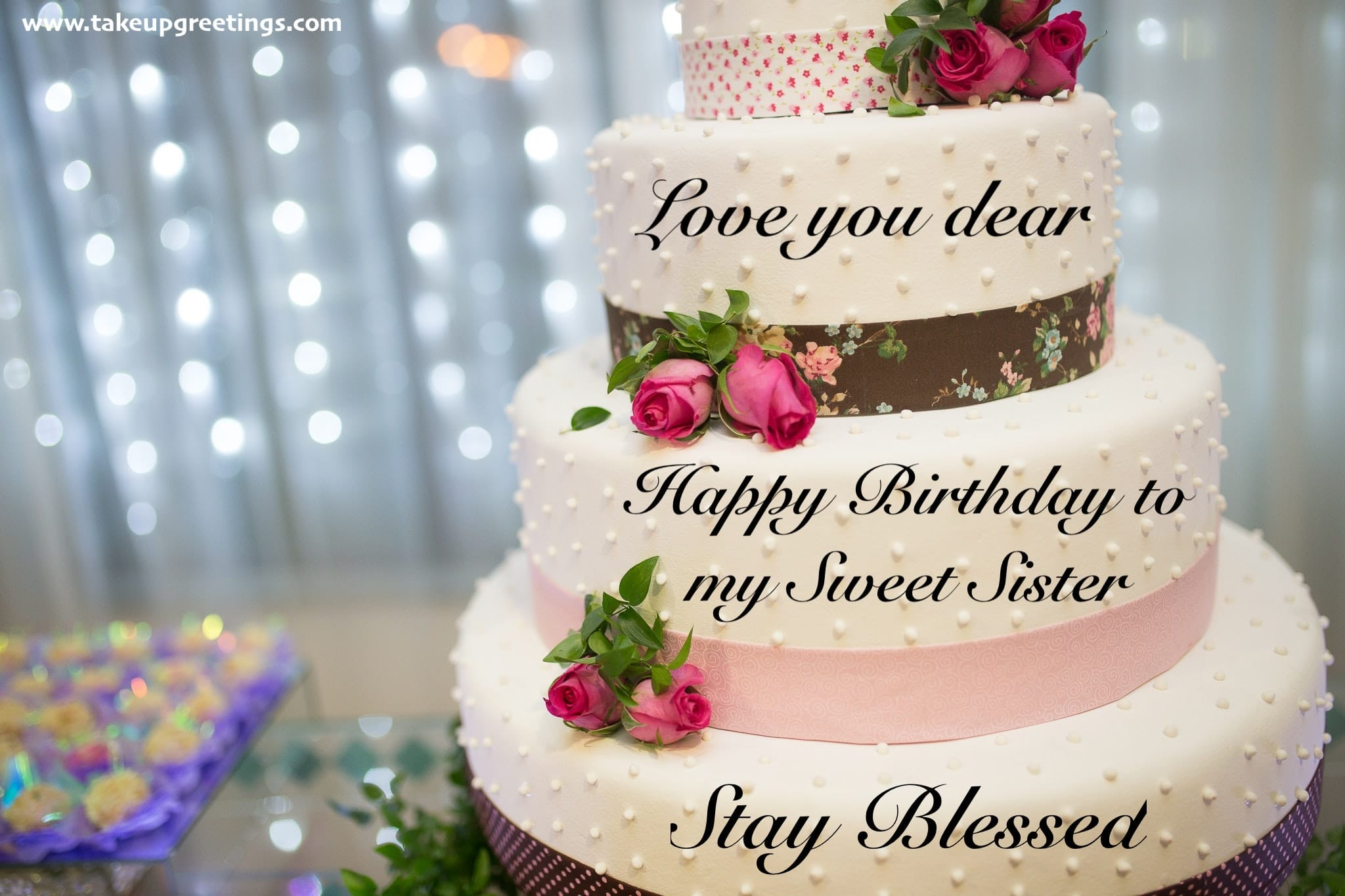 Dear Sister Happy Birthday Little Messages Www Galleryneed Com
