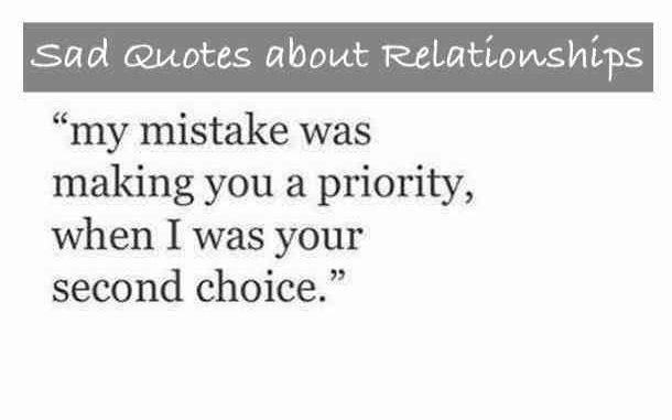 Sad quote about relationships