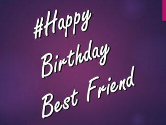 Happy Birthday Status for Best Friend